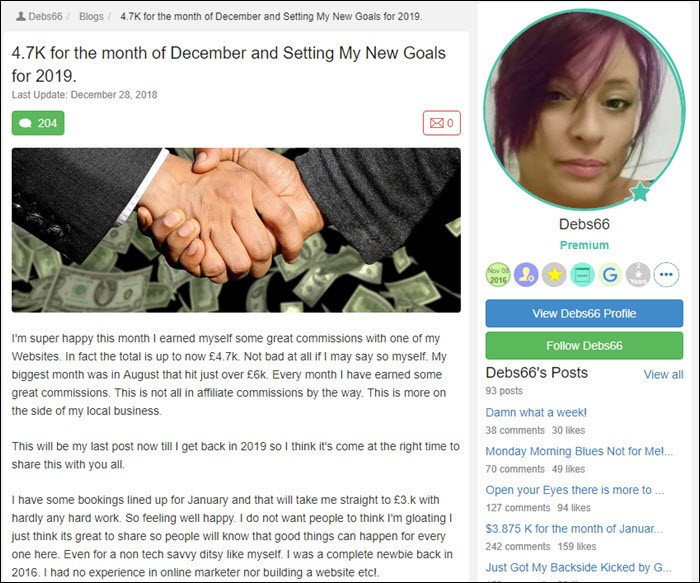Success story from Debs66