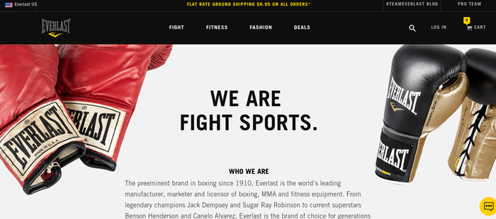 screenshot of the affiliate sign up page for Everlast