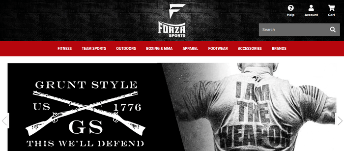 screenshot of the affiliate sign up page for Forza Sports