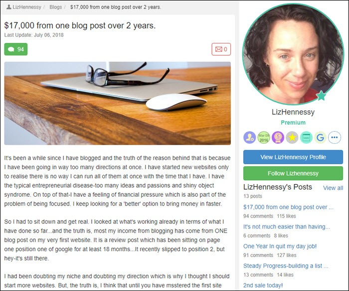 Success story from LizHennessy