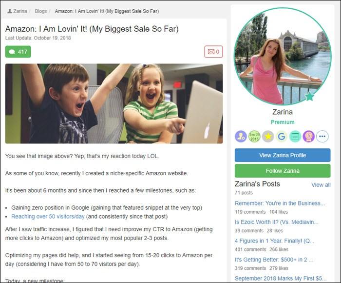 Success story from Zarina