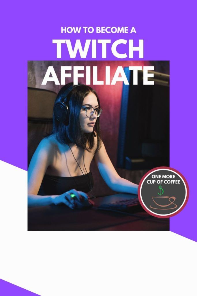 female gamer with black hair and glasses playing PC game on Twitch with title,