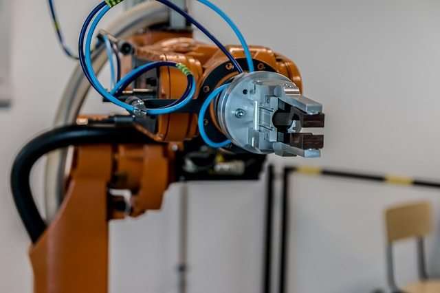 a robot arm controlled by AI representing amazon affiliate plugins