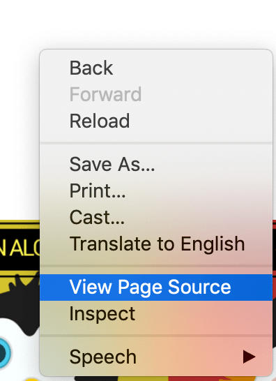 How to view web page source