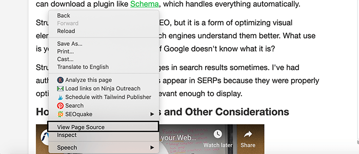 how to view page source