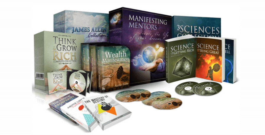 This screenshot shows a complete package of all of the products included in the Manifesting Mentors collection.