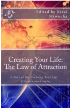 """This screenshot shows the front cover of the eBook entitled""""Creating Your Life: The Law of Attraction."""""""