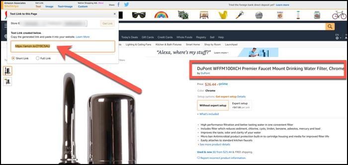amazon associates affiliate link