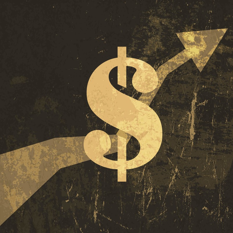 retro dollar sign with graph heading upwards showing how you can earn money by learning affiliate marketing