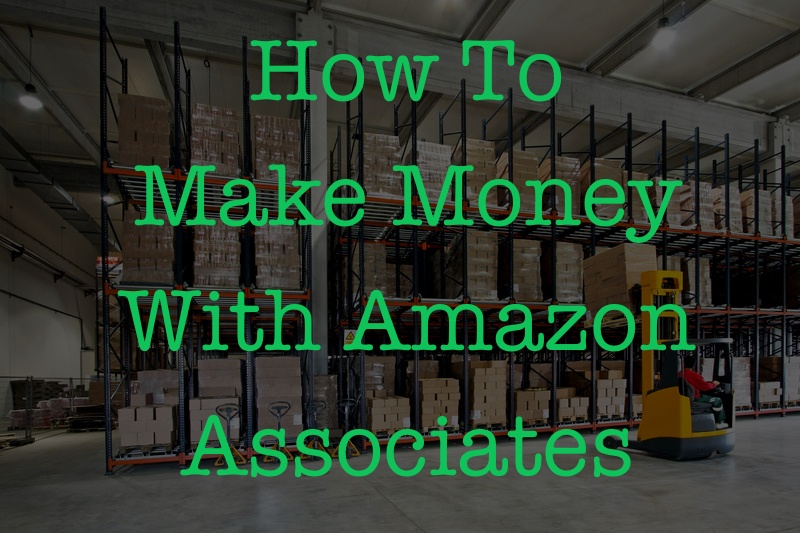 darkened photo of forklift driver in amazon warehouse representing making money amazon with associates