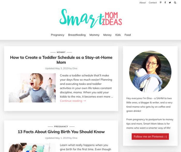 smart mom ideas affiliate website