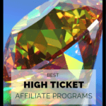 """closeup of transparent multicolored diamond with the heading """"best high ticket affiliate programs"""""""
