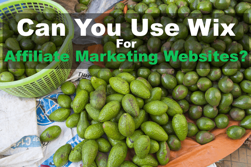 """pile of avocados with text headline, """"Can You Use Wix for Affiliate Marketing Websites?"""""""