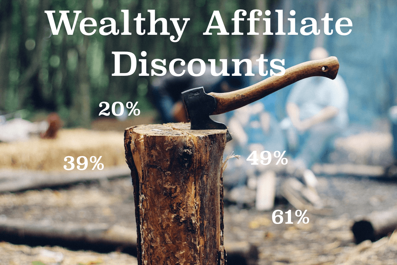 wealthy affiliate discounts