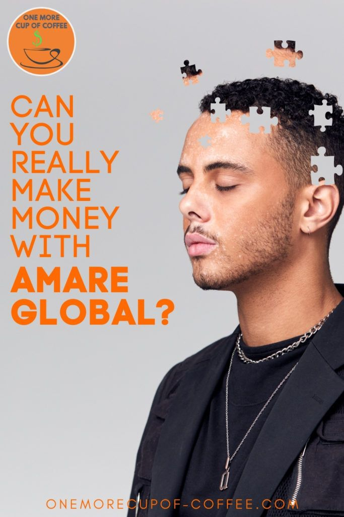 side profile of a man with eyes close, with cut-out puzzle pieces on the brain part of the image; with text overlay