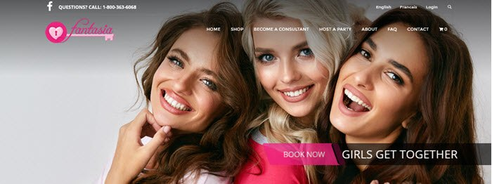 Fantasia Website screenshot showing three girls