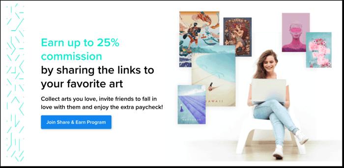 displate affiliate program details 25%