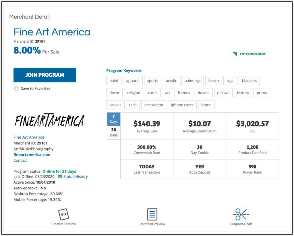 fine art america affiliate program