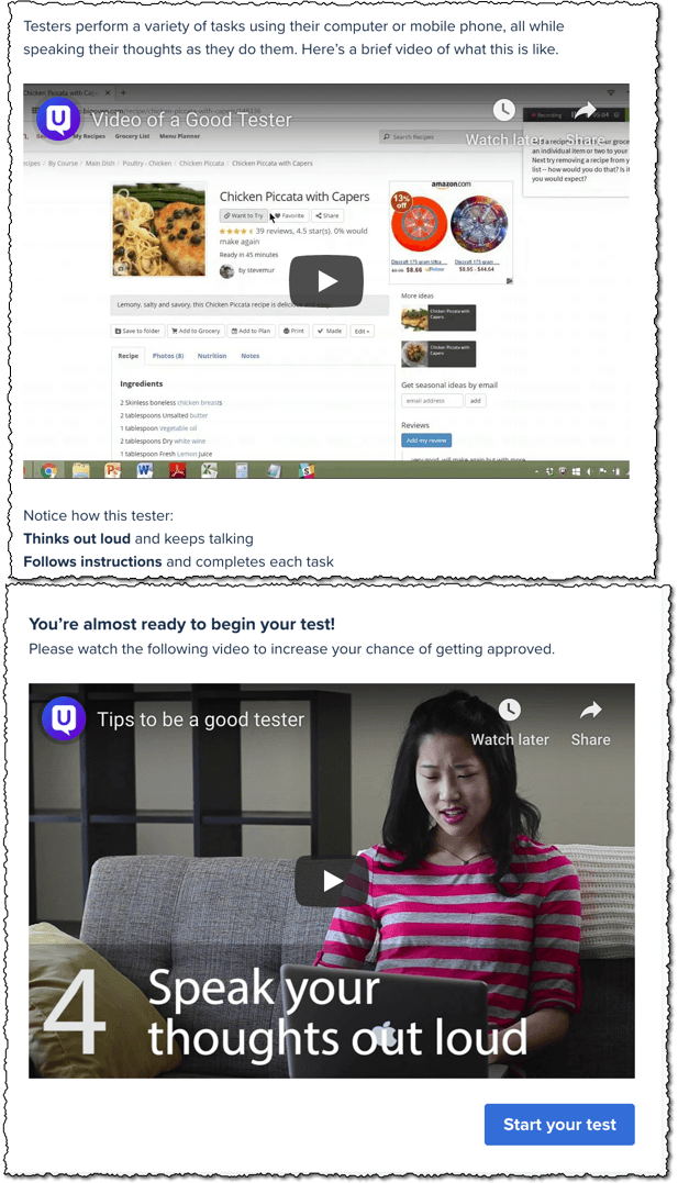 usertesting tips videos