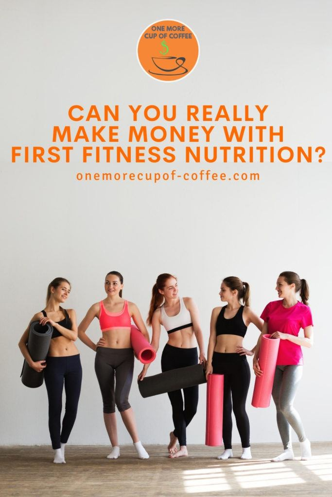 five women in workout outfit lined up against the wall, with text overlay