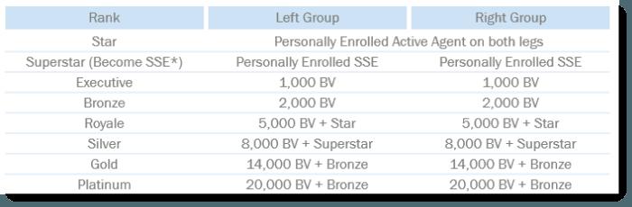Rank Advancement Requirements for Seacret