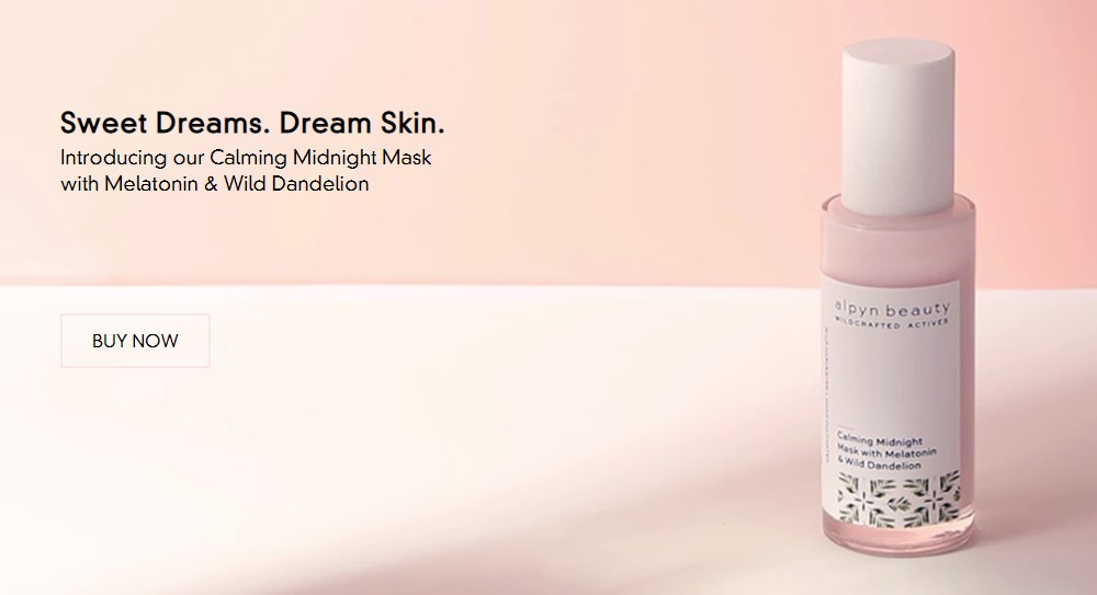 Alpyn Beauty home page