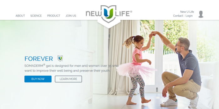 A website screenshot from NewULife showing a father playing with his daughter