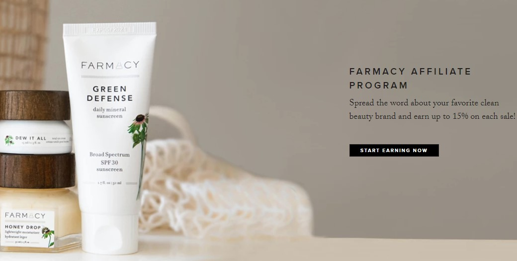 farmacy beauty affiliate sign up page