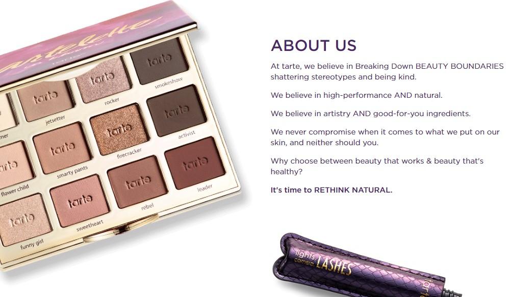 tarte cosmetics affiliate signu page
