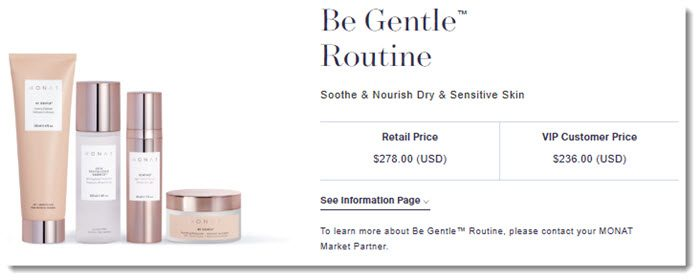 Be Gentle Routine from Monat