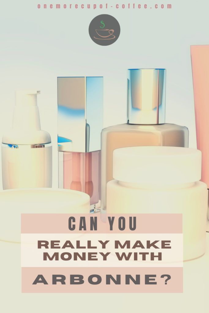 beauty products lined up with text overlay