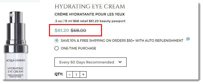 Hydrating Eye Cream from Bellame