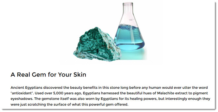 Malachite Extract in Bellame Products