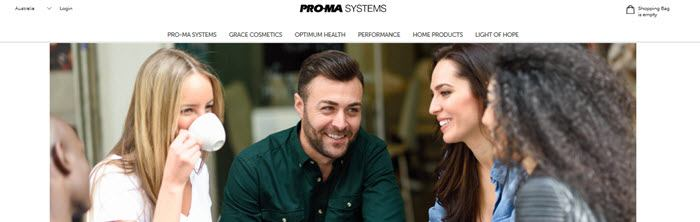 Proma Systems Website Screenshot showing some friends