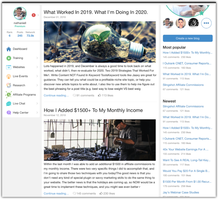 nathaniell november 2019 wealthy affiliate