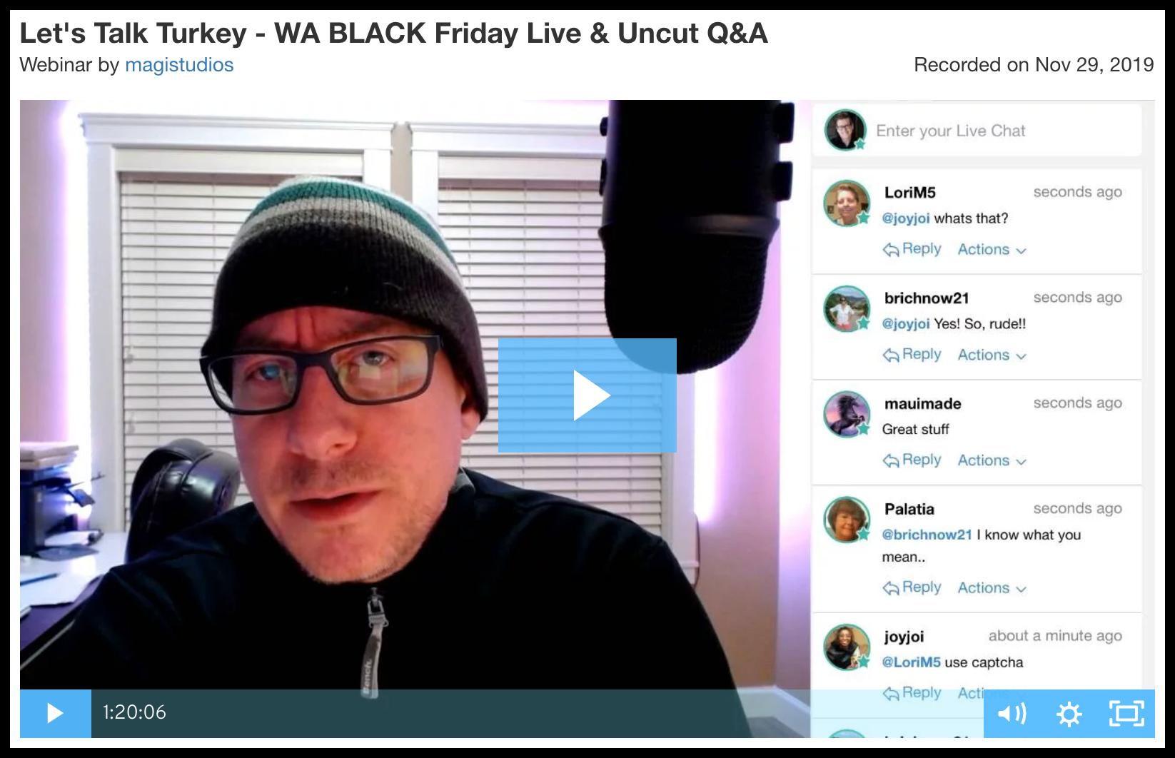 webinar - Live Q&A Thanksgiving Special