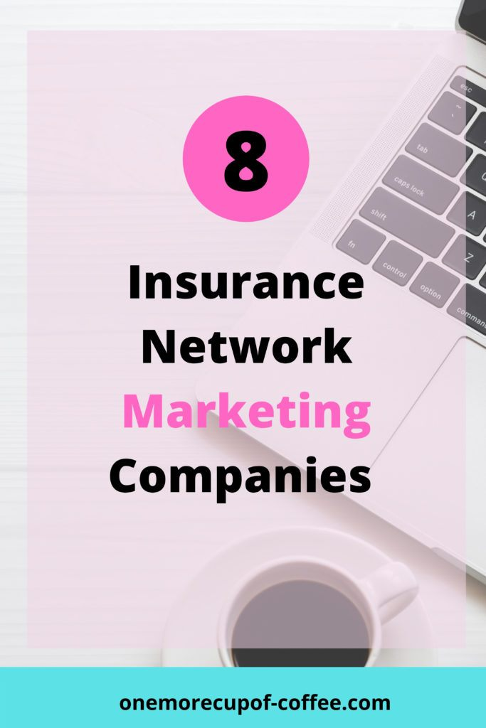Laptop with Coffee mug to represent insurance and network marketing.