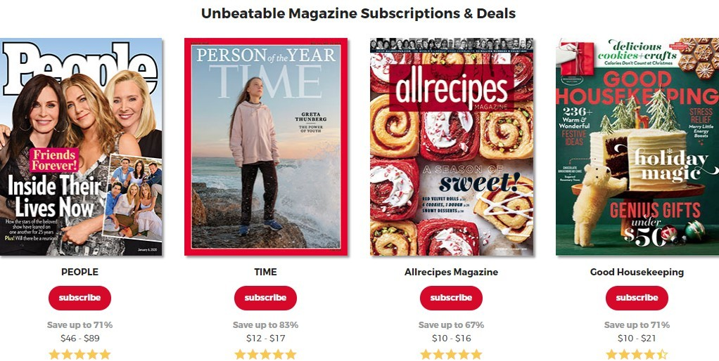 Magazine Store home page