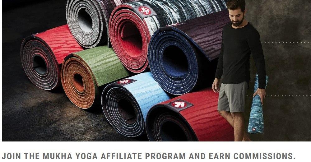 Mukha Yoga affiliate sign up page
