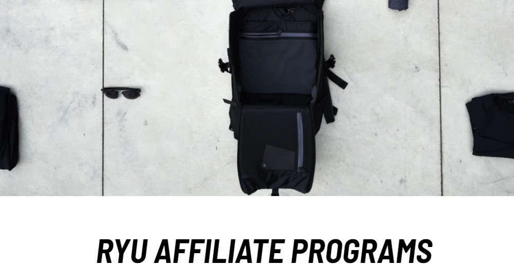 RYU affiliate sign up page