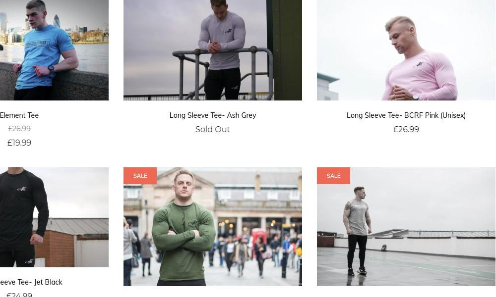 absolute fitness apparel product page