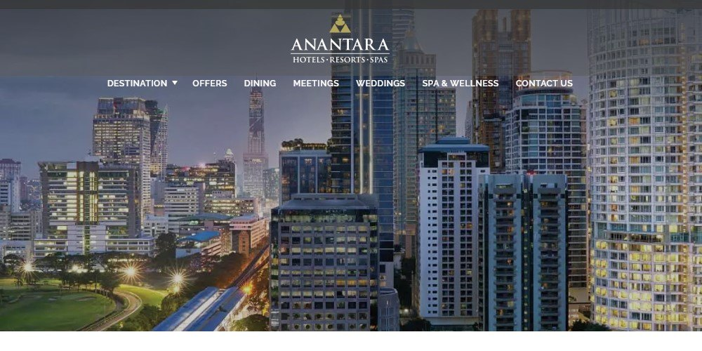 anantara affiliate sign up page