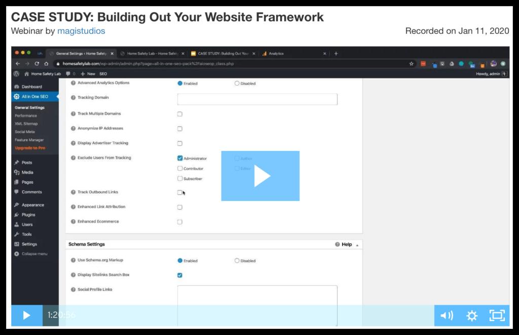 case study building out your website framework webinar 2