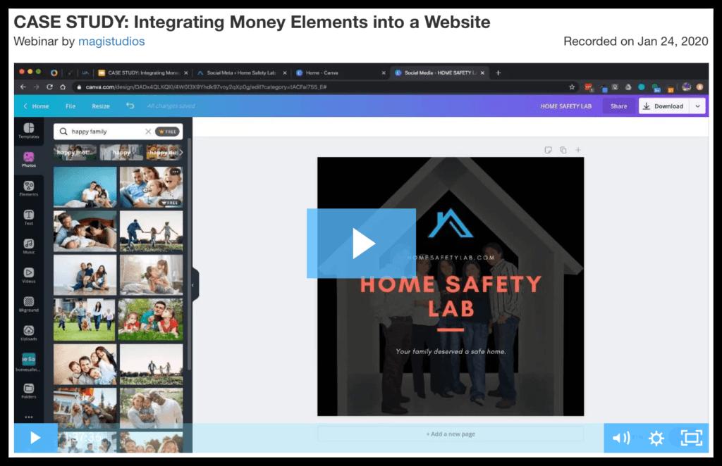 case study integrating money elements into a website 4