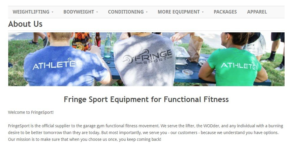 fringe sport about us page