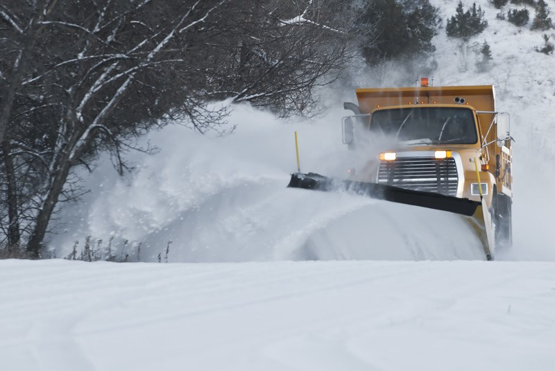 snow plow on rural road to represent Wealthy Affiliate in January 2020