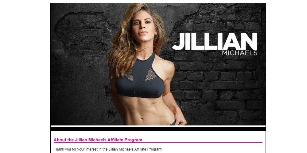 jillian michaels affiliate sign up page.