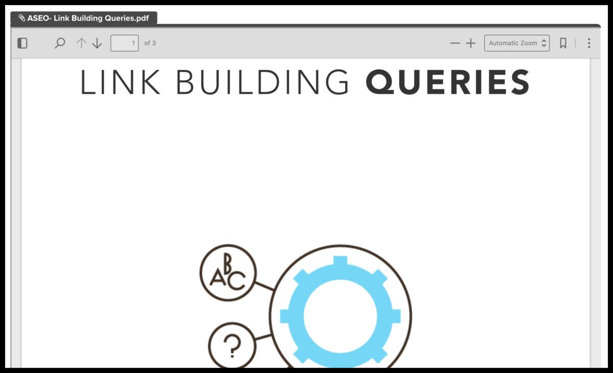 link building queries PDF screenshot
