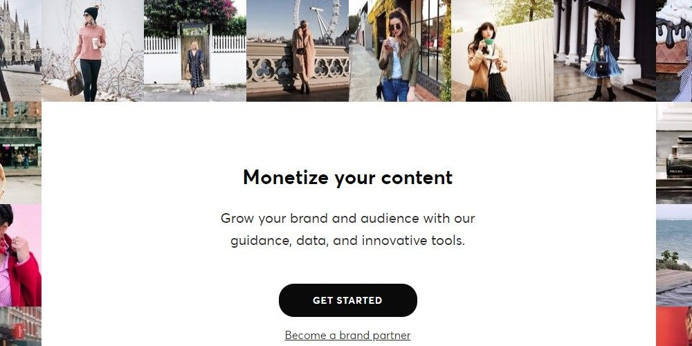 shopstyle collective affiliate signup page