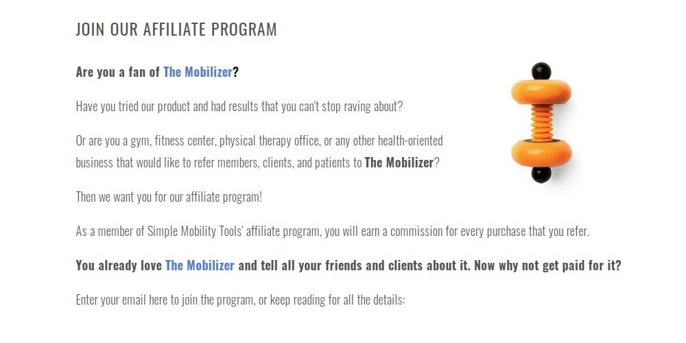 simple mobility tools affiliate sign up page